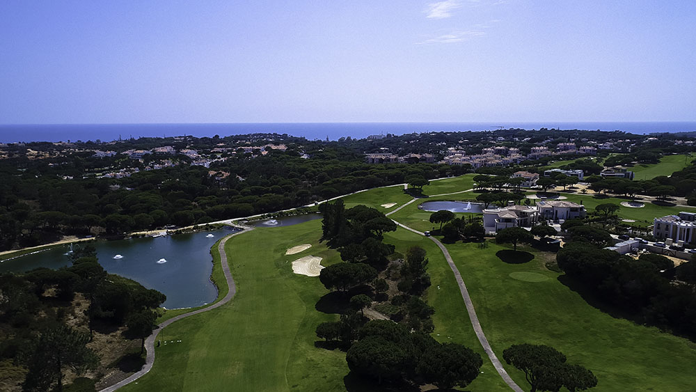 Vale do Lobo aerial view over the Golf course